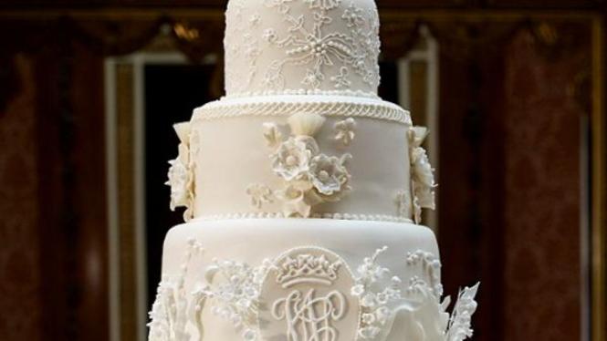 kue pernikahan Kate Middleton