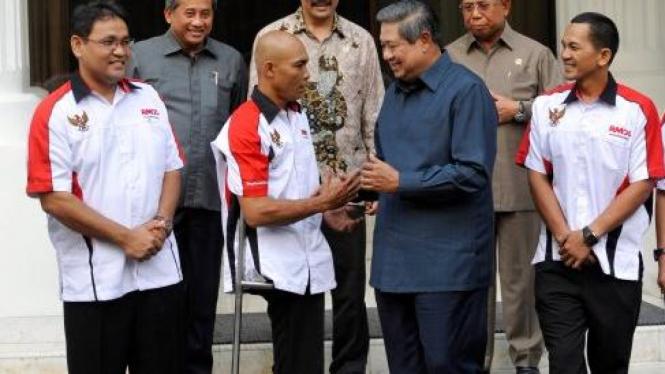 Sabar, berkaki satu, bertemu SBY sebelum mendaki Kilimanjaro