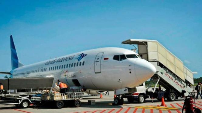 Pesawat Garuda Indonesia di Balikpapan