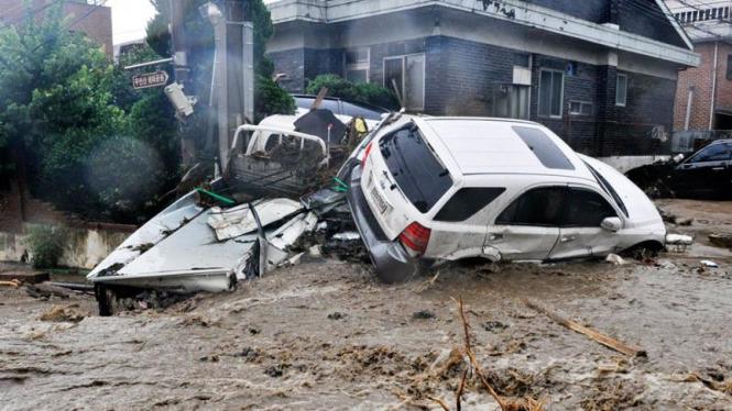 Banjir Di Korea Selatan