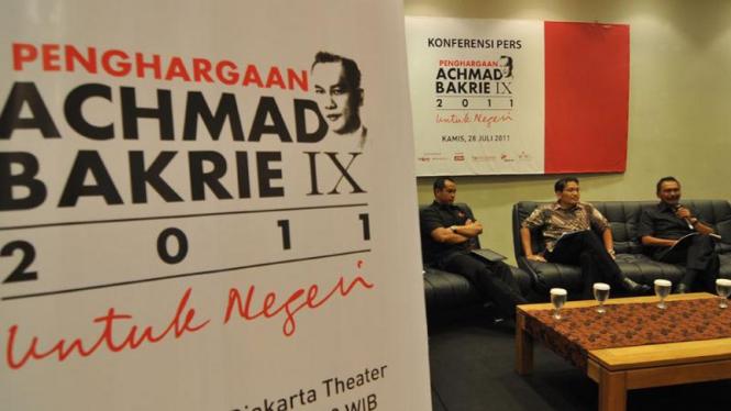 Press conference penghargaan ahmad bakrie award 2011