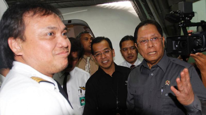 Menneg BUMN Mustafa AbuBakar dan Dirut Garuda Indonesia Emirsyah Satar