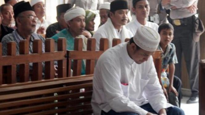Sidang kasus Cikeusik di Pengadilan Negeri Serang, Banten,