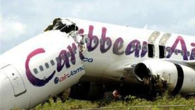 Pesawat Boeing 737-800 yang terjatuh di Guyana