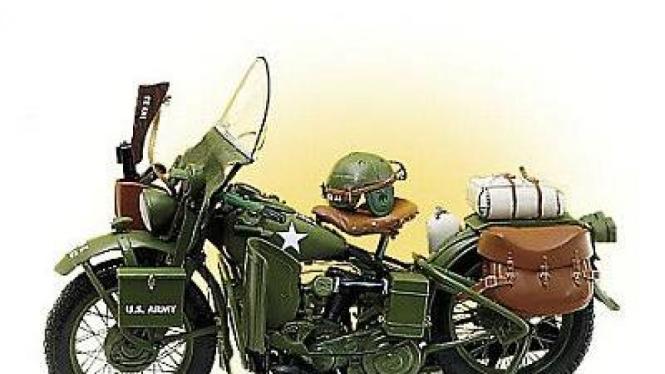 Miniatur Harley-Davidson WLA Army