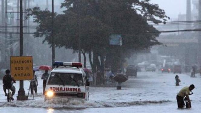 Banjir besar di Manila, Filipina.