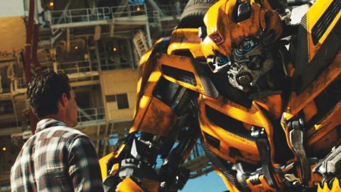 Salah satu adegan dalam film Transformers