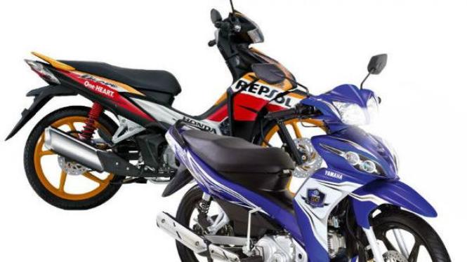 New Honda Blade dan Yamaha Jupiter Z