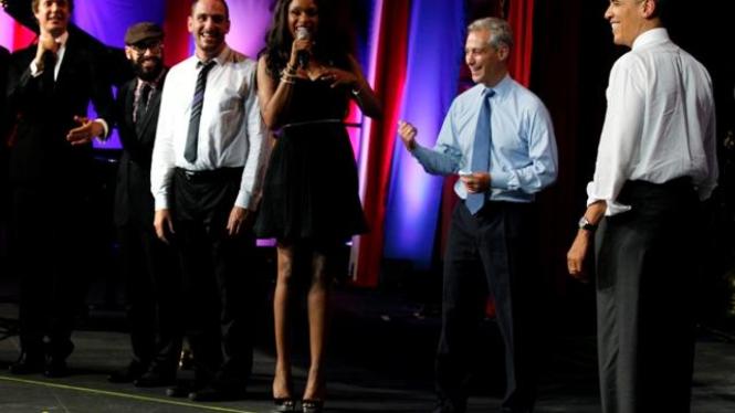 Jennifer Hudson dan Presiden Obama