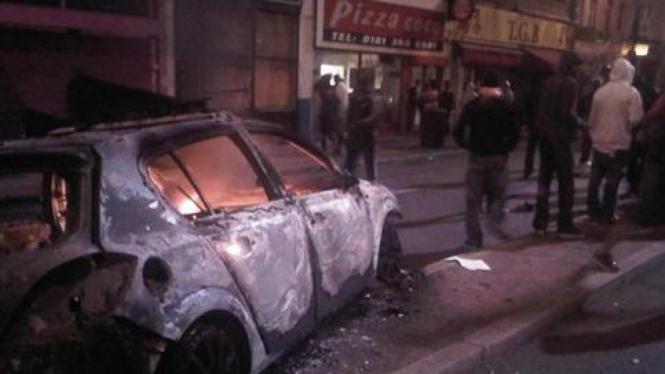 Kerusuhan di Tottenham, Inggris.