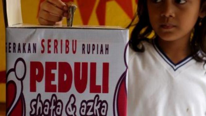 Deklarasi Gerakan Seribu Rupiah Peduli Shafa dan Azka, penderita GBS