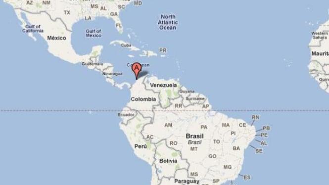 Peta Kota Cartagena, Kolombia