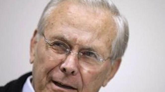 Mantan Menteri Pertahanan AS, Donald Rumsfeld.
