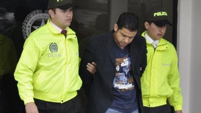 Foto Nazaruddin yang dirilis Kepolisian Kolumbia