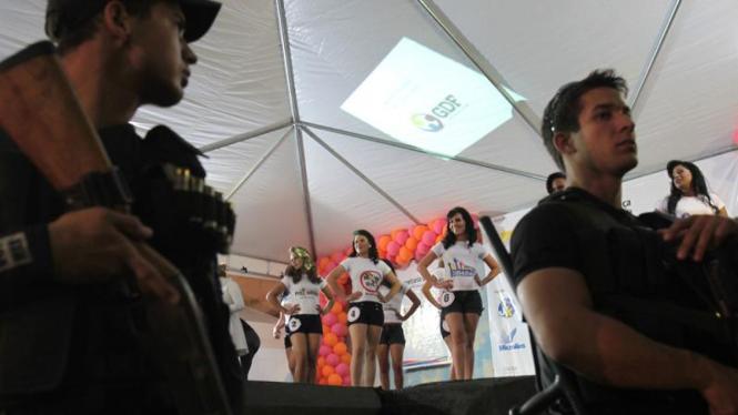 Kontes kecantikan di lapas Brasil