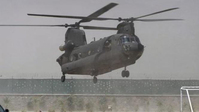 Helikopter Chinook AS mendarat di Afghanistan