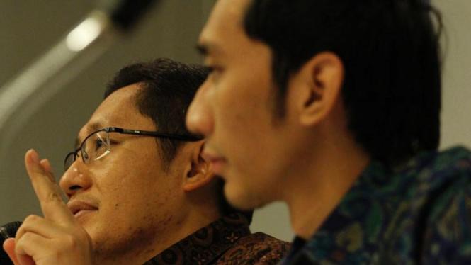 Anas Urbaningrum dan Edhie Baskoro Yudhoyono