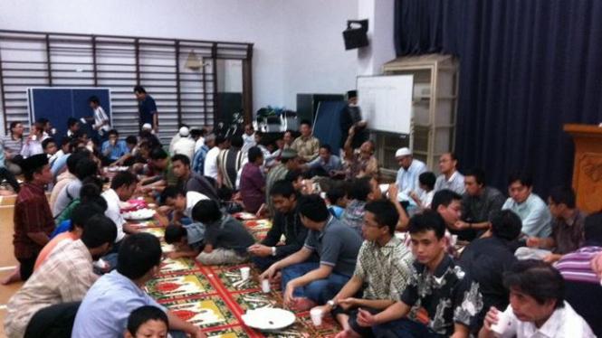 Suasana buka puasa masyarakat Indonesia di Tokyo, Jepang