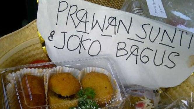 Menu buka puasa Prawan Sunti & Joko Bagus (Foto: Erick Tanjung | Yogyakarta)
