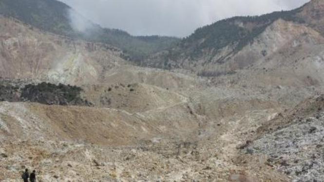 bekas letusan Gunung Papandayan, Kabupaten Garut, Jawa Barat