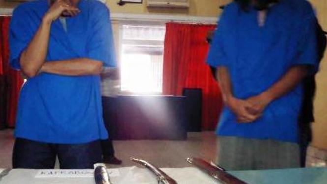 Dua tersangka pencurian benda pusaka Cirebon