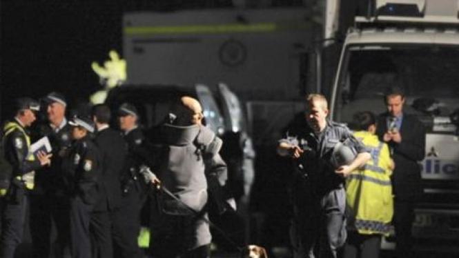 Suasana pemukiman Mosman, Sydney, Australia ditemukan benda diduga bom.