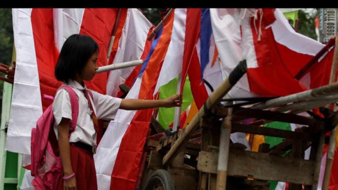 Pedagang Bendera Merah Putih