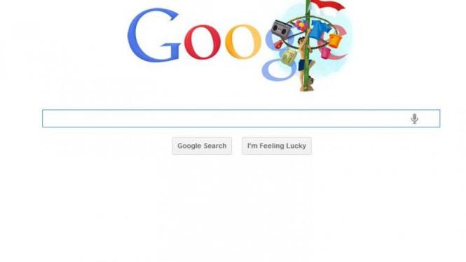 Doodle Google bergambar panjat pinang