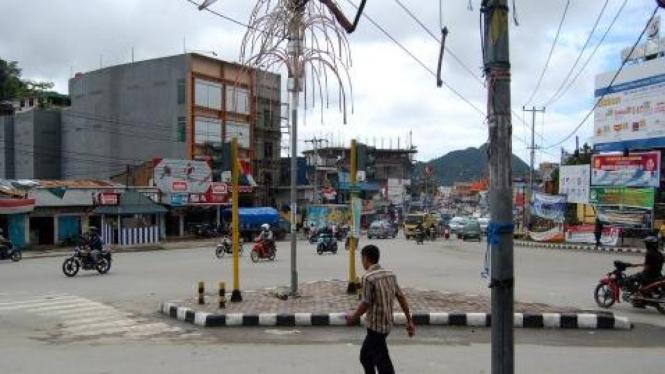 Abepura, Jayapura, lengang di Hari Kemerdekaan Indonesia