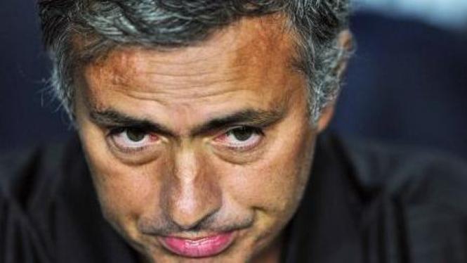 Jose Mourinho di leg kedua Piala Super Spanyol