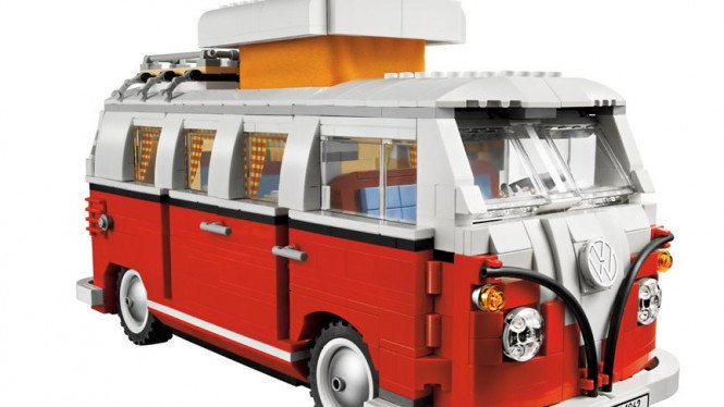 VW T1 Camper Van atau VW Kombi yang dibuat dari Lego