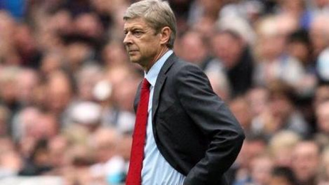 Arsene Wenger di pertandingan melawan Newcastle United