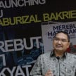 Lalu Mara di Re-Launching Buku Aburizal Bakrie
