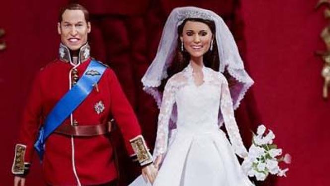 Boneka Pangeran William dan Kate Middleton
