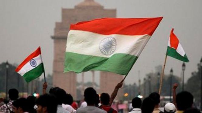 Massa anti korupsi melakukan mogok makan di India.