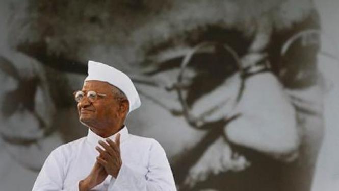 Anna Hazare, tokoh anti korupsi India.