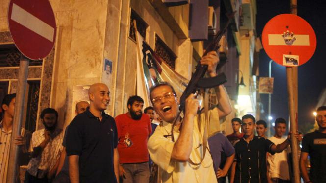 Perayaan Tertangkapnya Putra Moammar Gadhafi