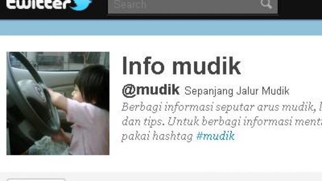 Info mudik di Twitter