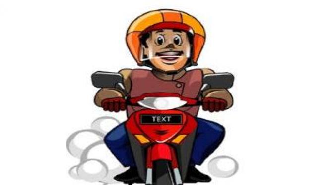 Ilustrasi Berkendara Sepeda Motor