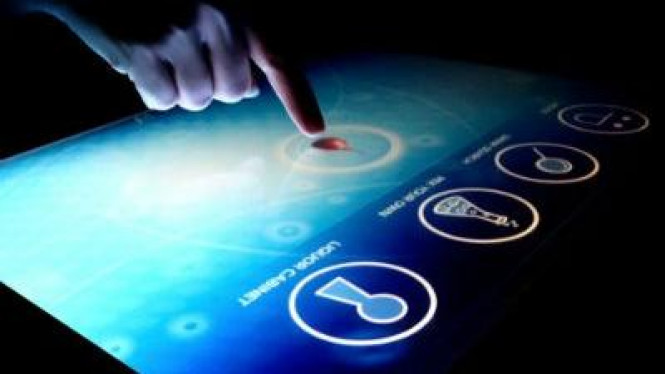 Ilustrasi Touchscreen