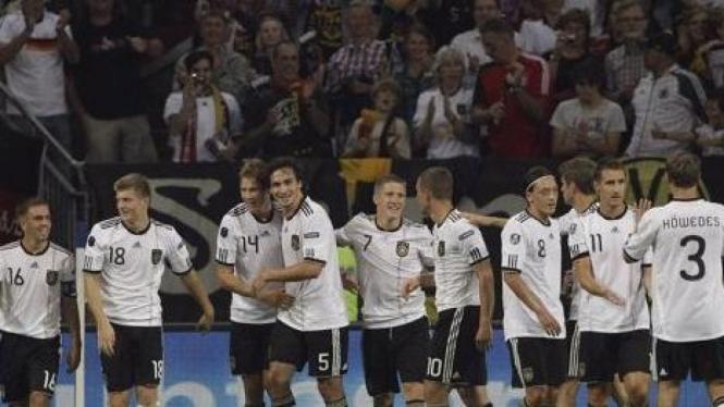 Pemain Jerman di pertandingan melawan Austria