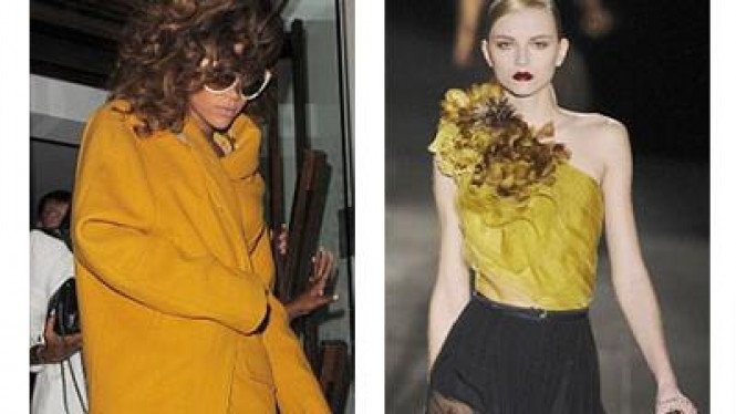 tren fashion mustard