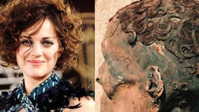 salah satu gaya rambut mumi Mesir