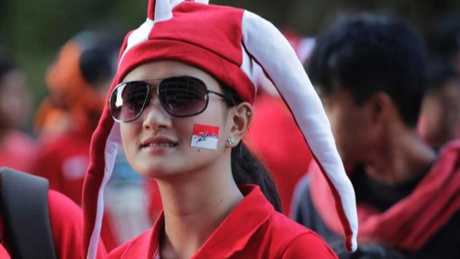 Suporter Wanita Timnas Indonesia