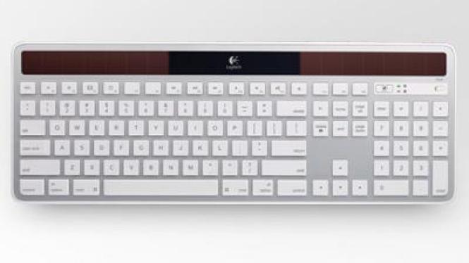 Keyboard bertenaga matahari untuk Apple Mac