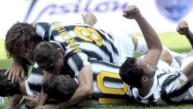Pemain Juventus di pertandingan melawan Parma
