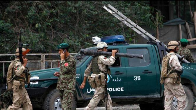 Serangan Gerilyawan Taliban di Kedubes AS di Kabul, Afghanistan.