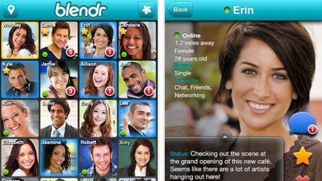 Blendr, aplikasi pencari teman kencan