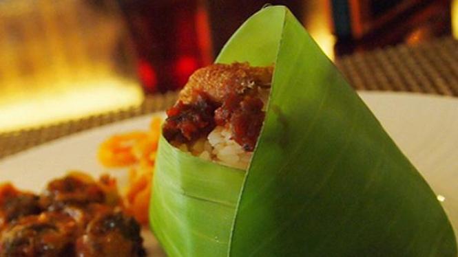 nasi bungkus daun pisang
