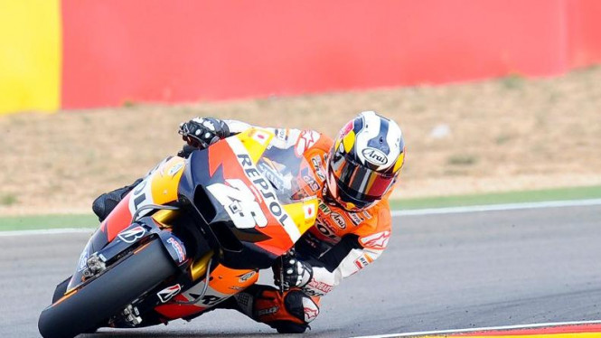 Dani Pedrosa (Repsol Honda) di MotoGP Aragon